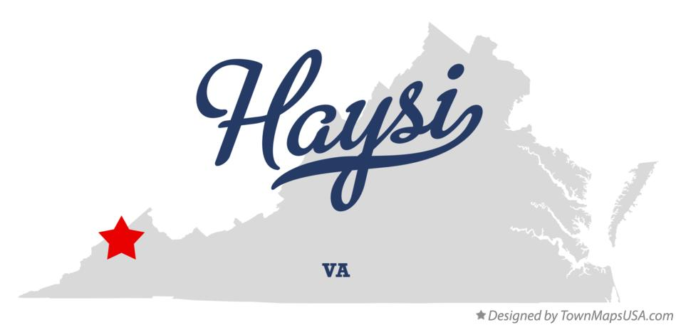 Map of Haysi Virginia VA