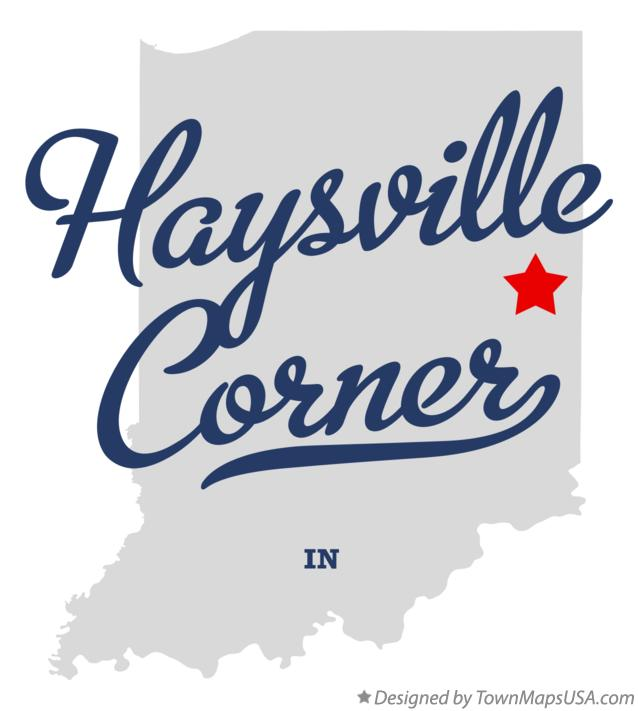 Map of Haysville Corner Indiana IN
