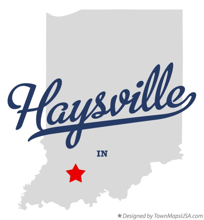 Map of Haysville Indiana IN