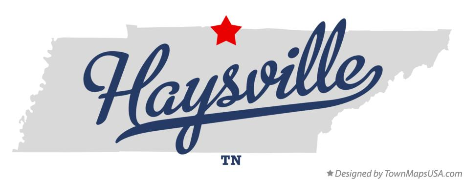 Map of Haysville Tennessee TN