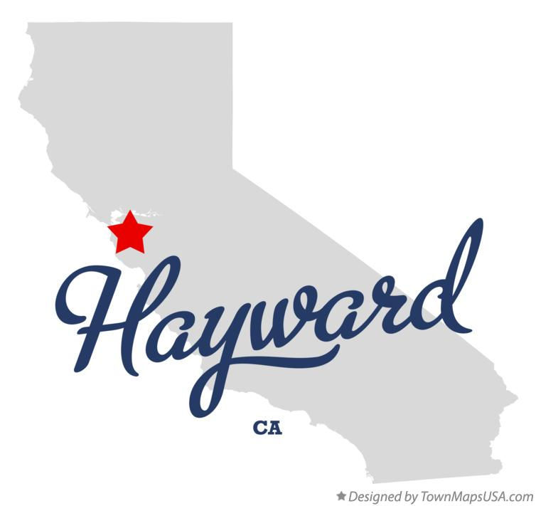 Map of Hayward California CA