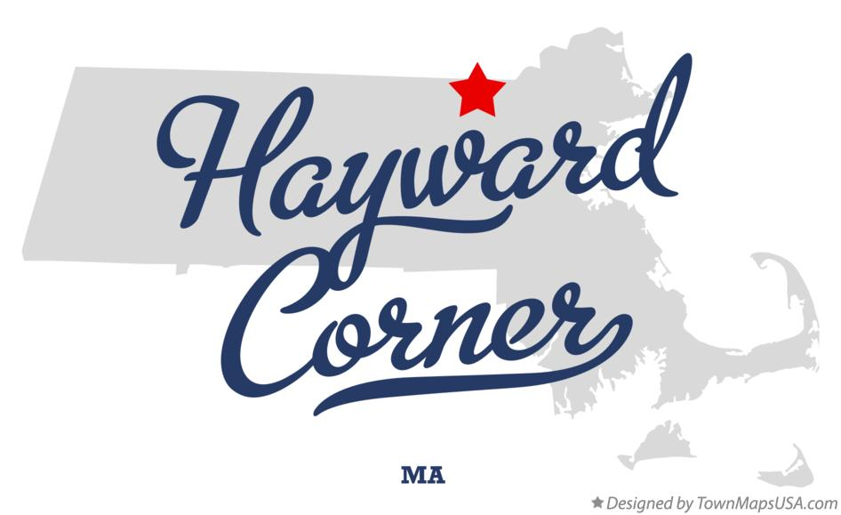 Map of Hayward Corner Massachusetts MA