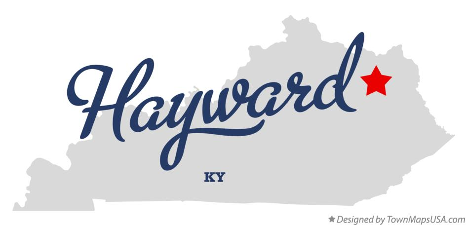 Map of Hayward Kentucky KY