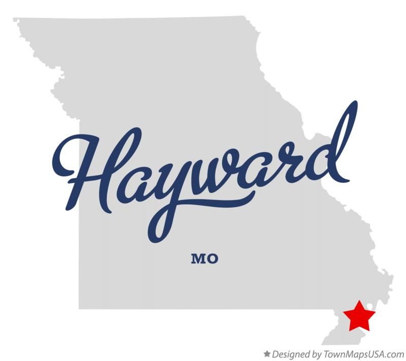 Map of Hayward Missouri MO