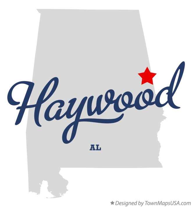 Map of Haywood Alabama AL