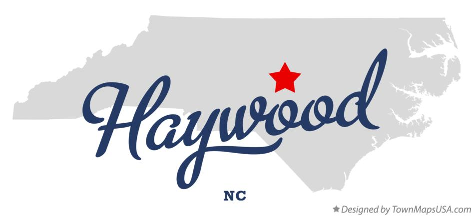 Map of Haywood North Carolina NC