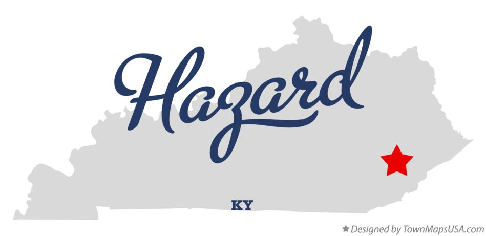 Map of Hazard Kentucky KY