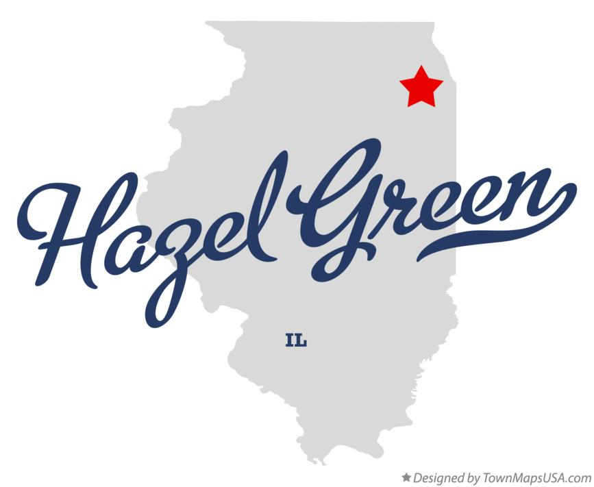 Map of Hazel Green Illinois IL