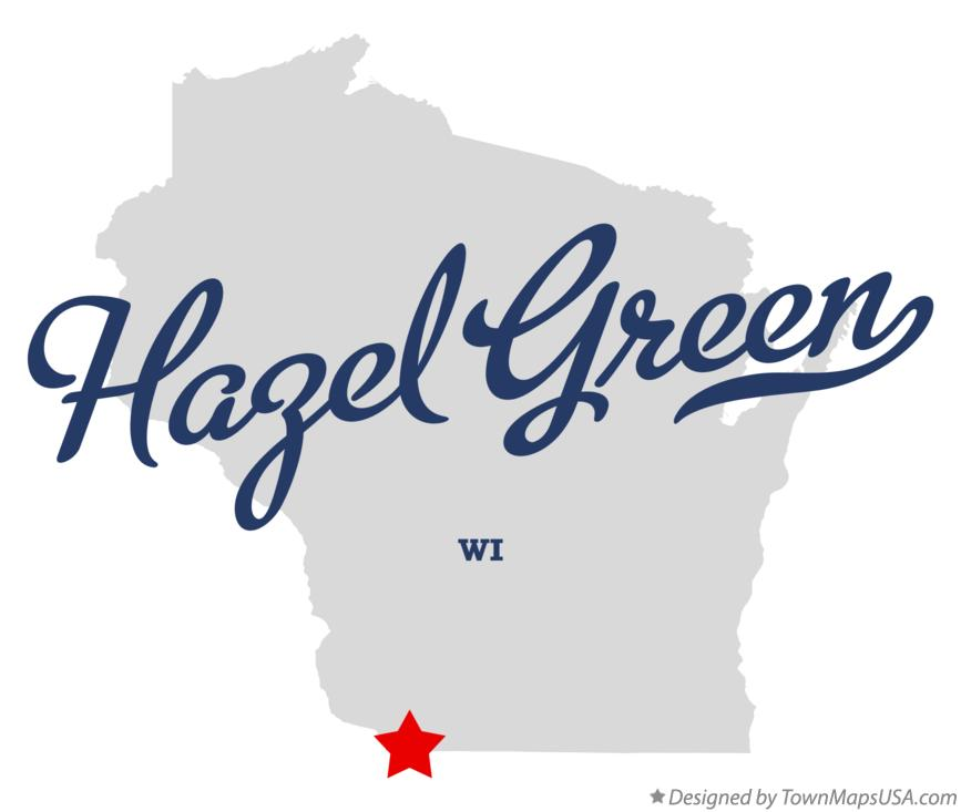 Map of Hazel Green Wisconsin WI