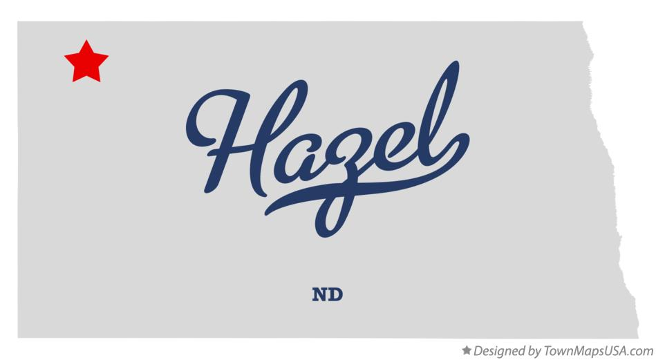 Map of Hazel North Dakota ND