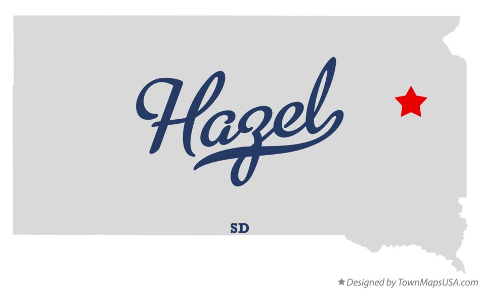 Map of Hazel South Dakota SD