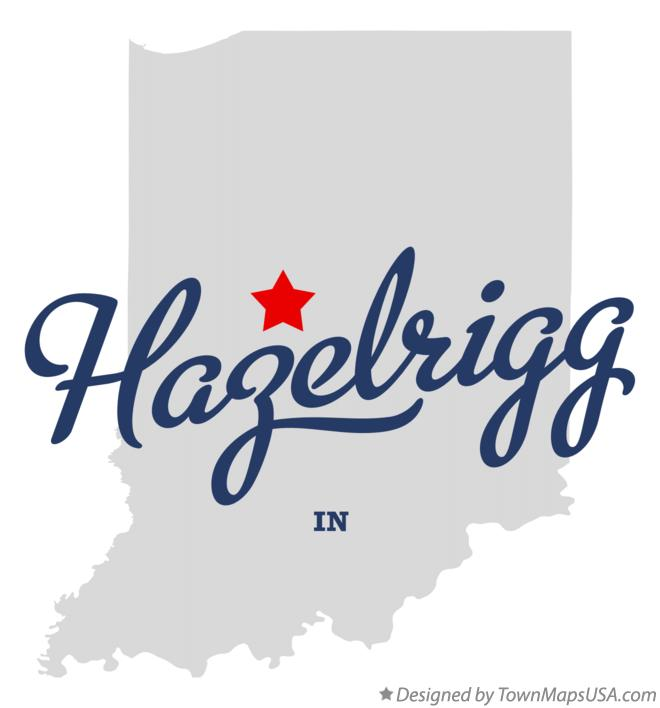 Map of Hazelrigg Indiana IN
