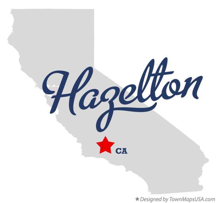 Map of Hazelton California CA