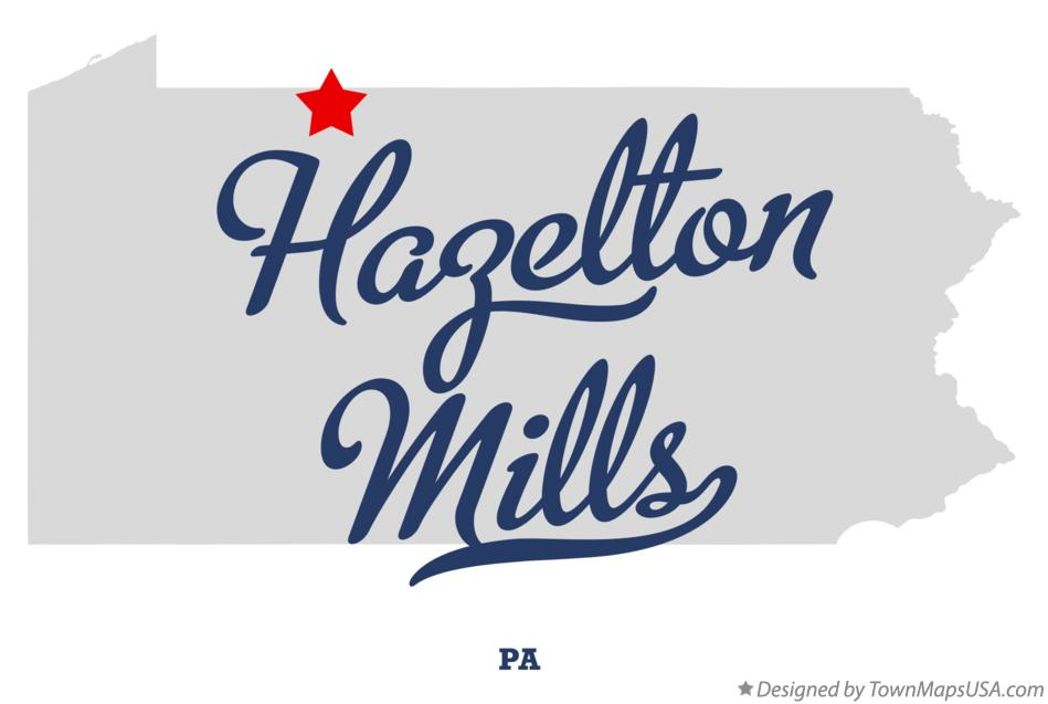 Map of Hazelton Mills Pennsylvania PA