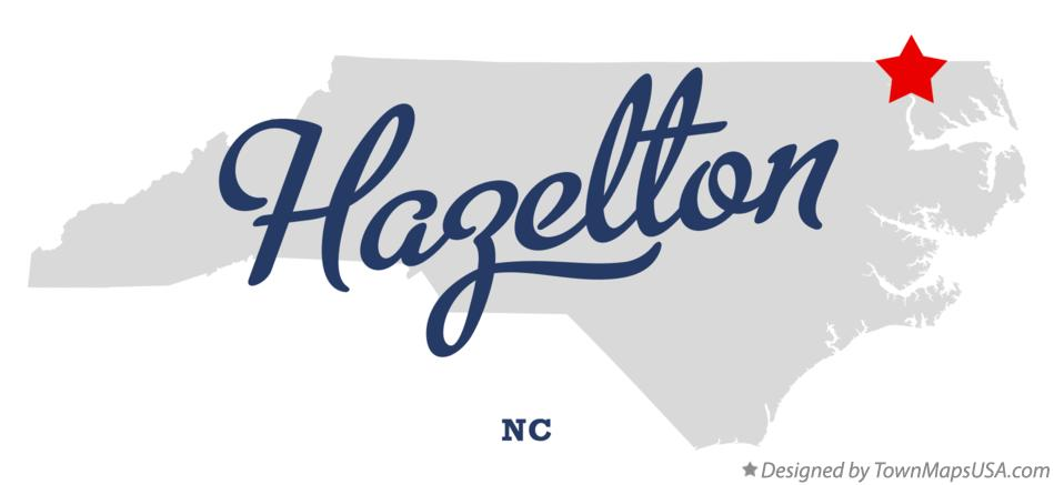 Map of Hazelton North Carolina NC