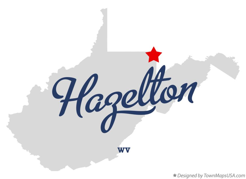 Map of Hazelton West Virginia WV