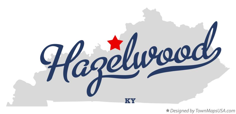 Map of Hazelwood Kentucky KY