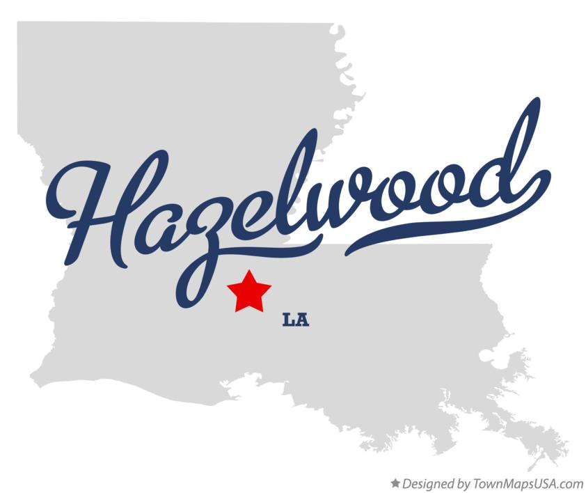 Map of Hazelwood Louisiana LA