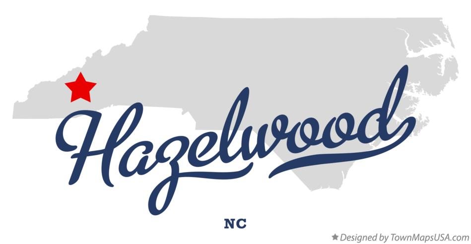 Map of Hazelwood North Carolina NC