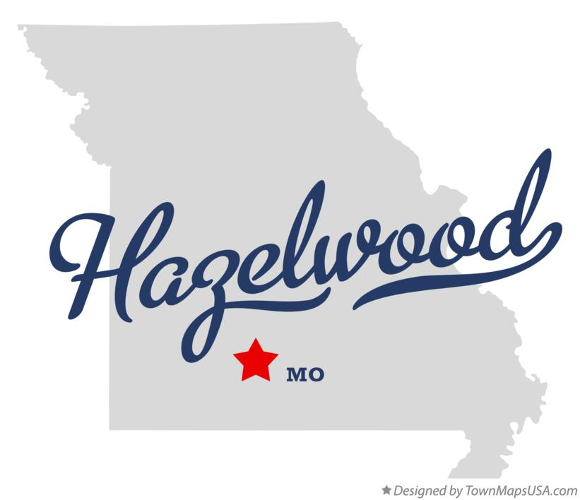 Map of Hazelwood Missouri MO