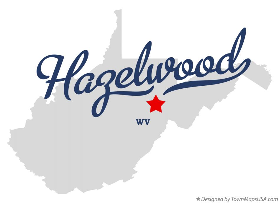 Map of Hazelwood West Virginia WV