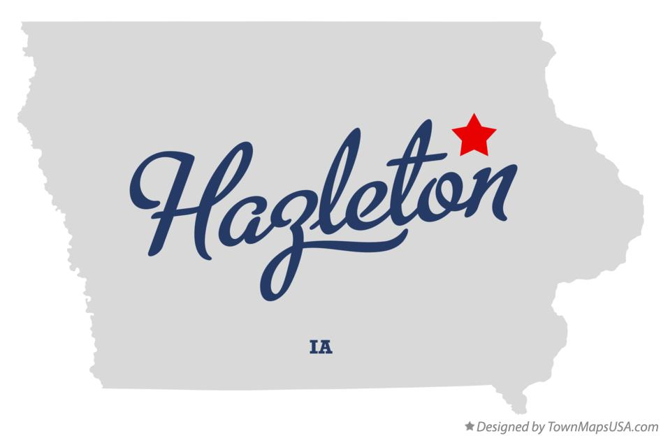 Map of Hazleton Iowa IA