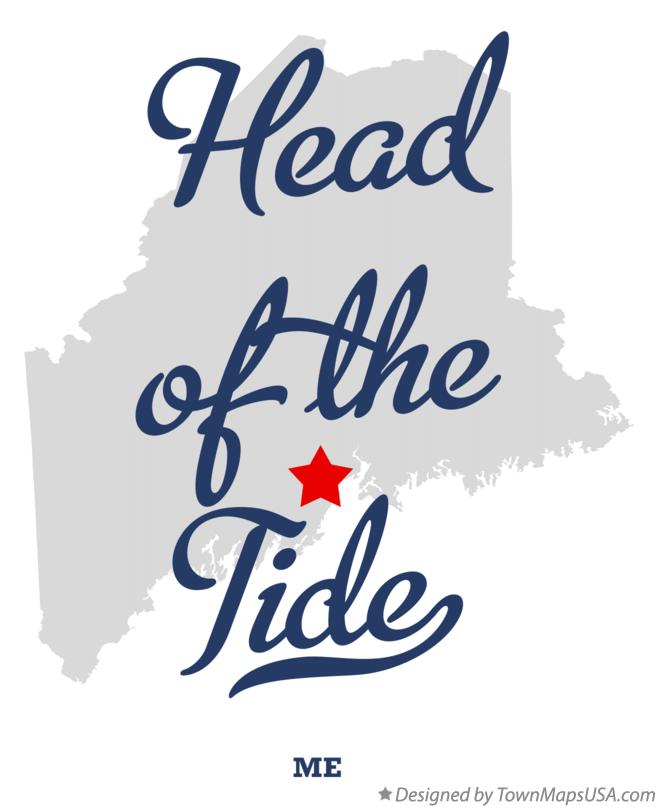 Map of Head of the Tide Maine ME