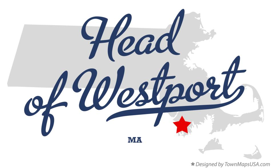 Map of Head of Westport Massachusetts MA