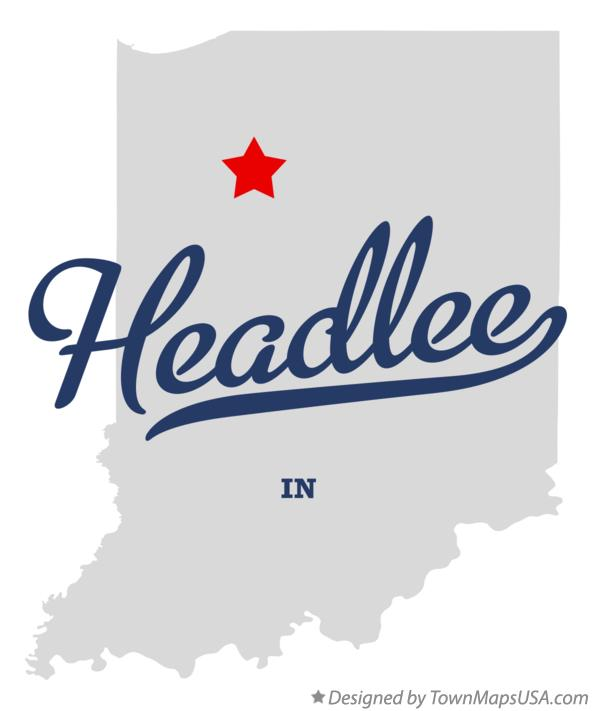 Map of Headlee Indiana IN