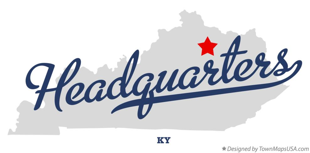 Map of Headquarters Kentucky KY