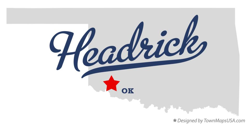 Map of Headrick Oklahoma OK