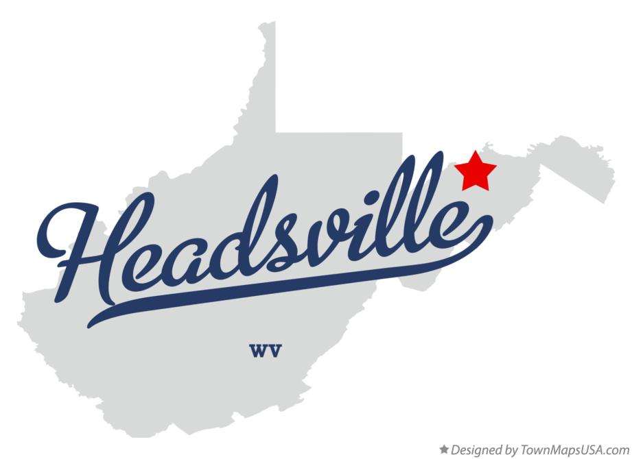 Map of Headsville West Virginia WV