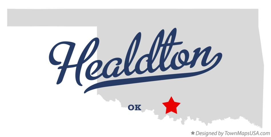 Map of Healdton Oklahoma OK