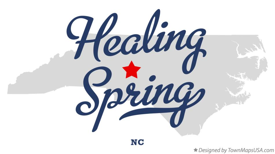 Map of Healing Spring North Carolina NC