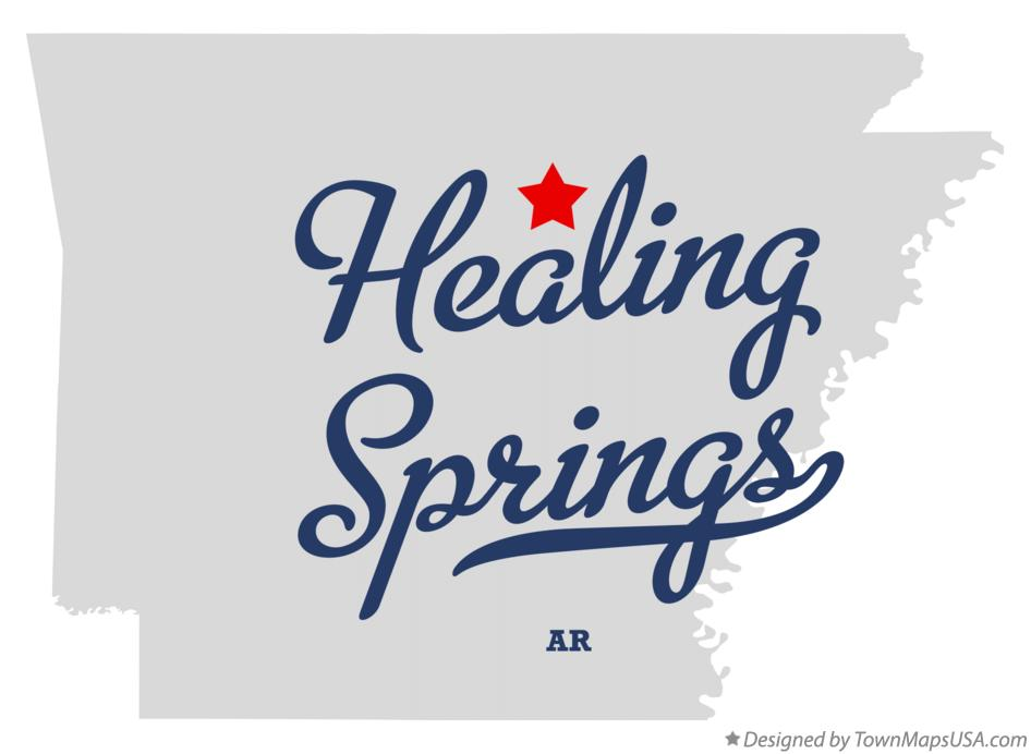 Map of Healing Springs Arkansas AR