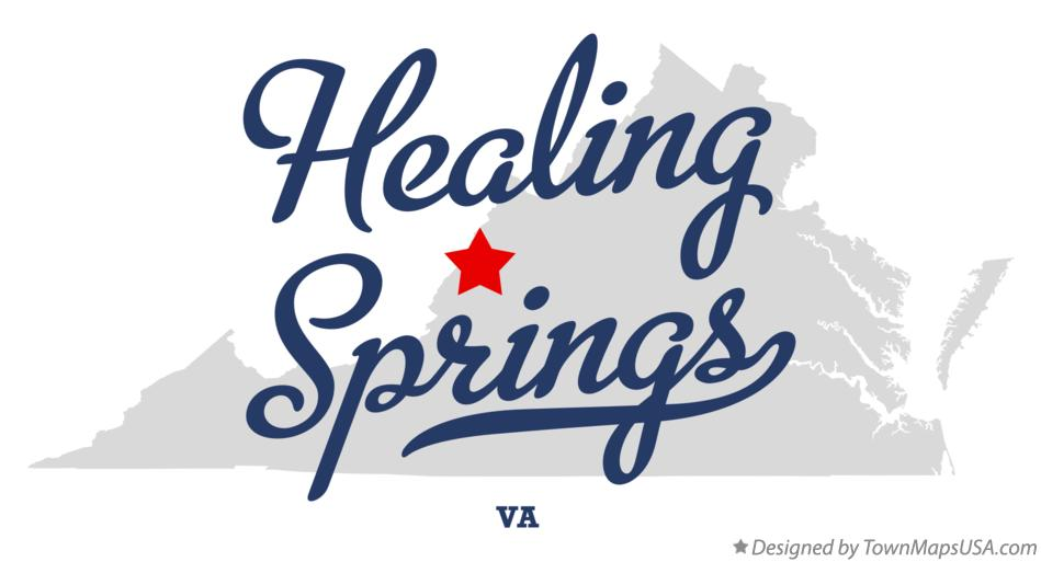Map of Healing Springs Virginia VA