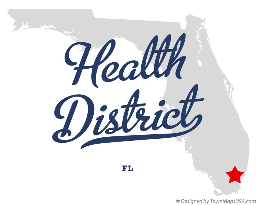 Map of Health District Florida FL