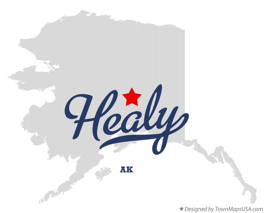 Map of Healy Alaska AK