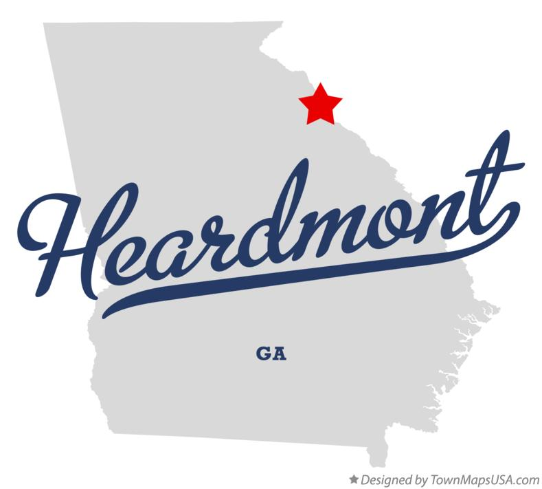 Map of Heardmont Georgia GA