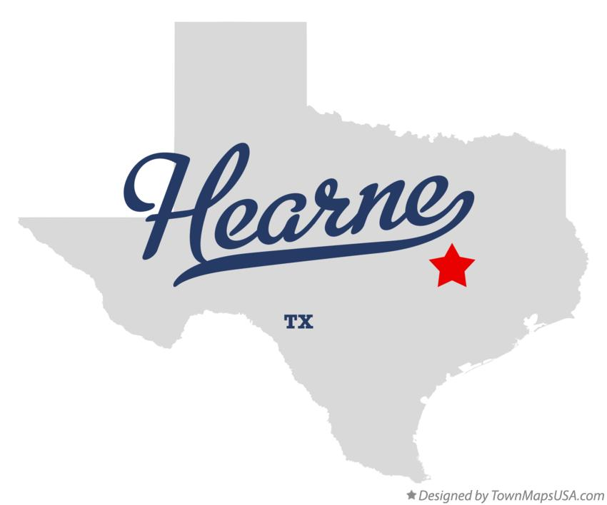 Map of Hearne Texas TX
