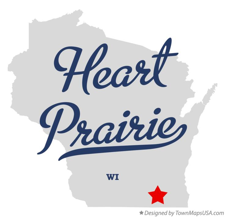 Map of Heart Prairie Wisconsin WI