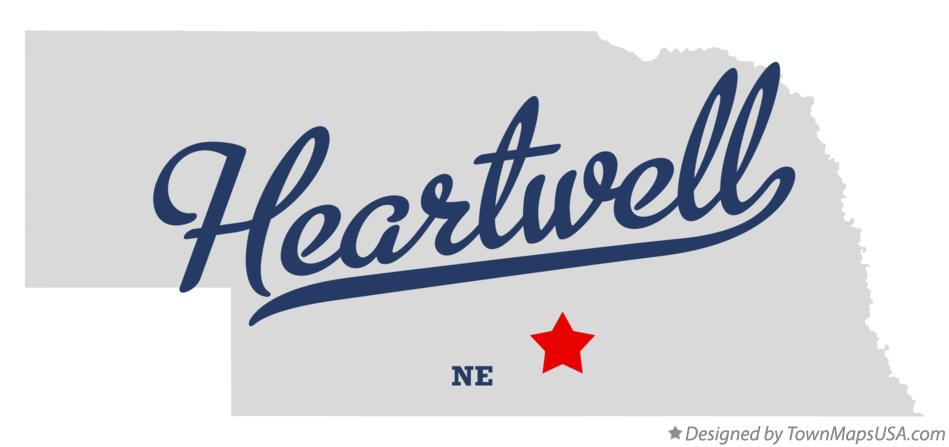 Map of Heartwell Nebraska NE