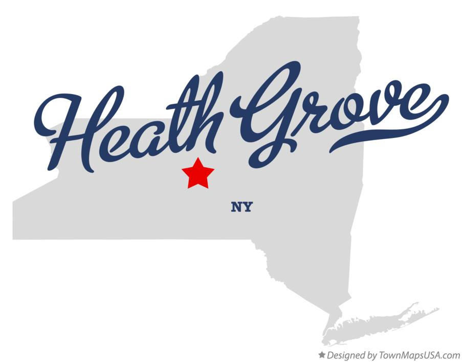Map of Heath Grove New York NY