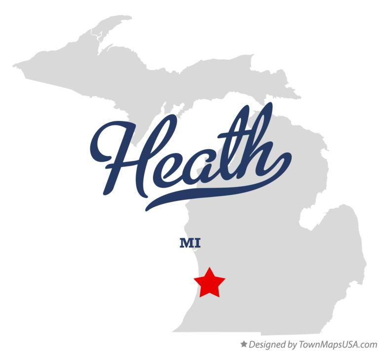 Map of Heath Michigan MI