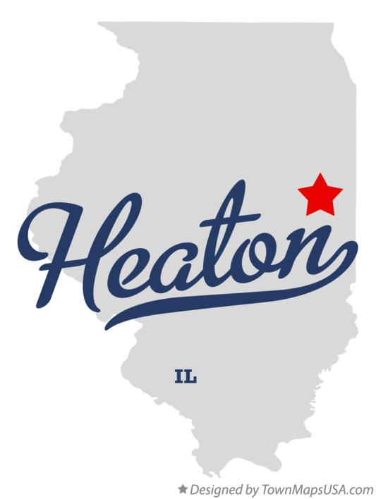 Map of Heaton Illinois IL