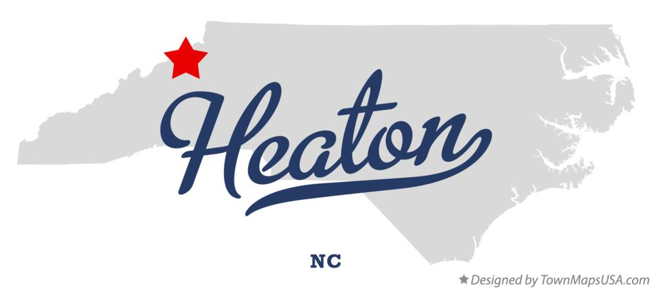Map of Heaton North Carolina NC