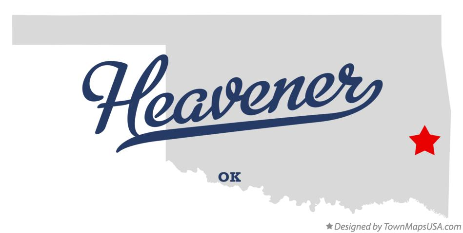 Map of Heavener Oklahoma OK