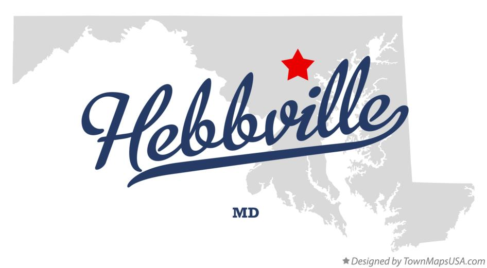 Map of Hebbville Maryland MD