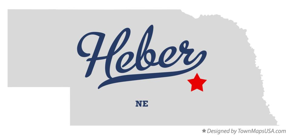 Map of Heber Nebraska NE