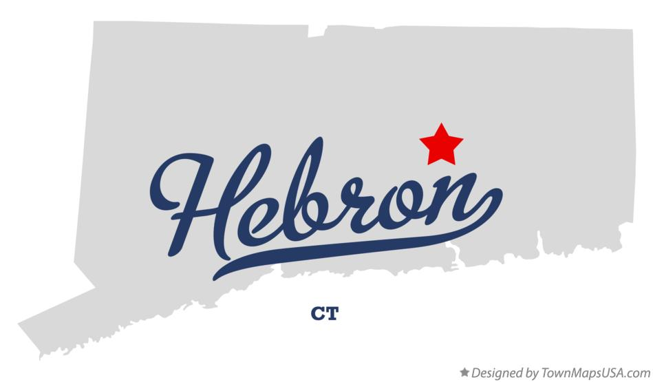 Map of Hebron Connecticut CT